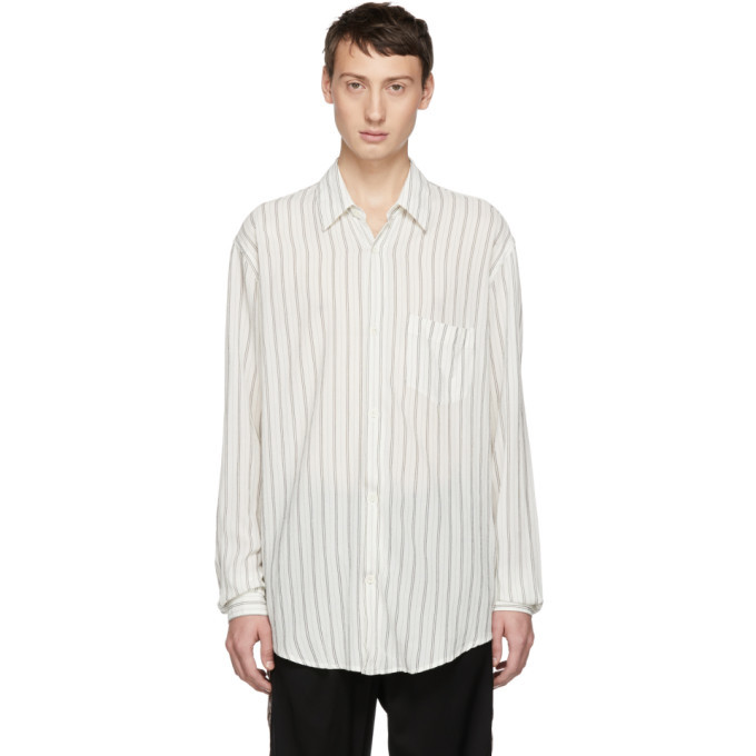 Photo: Our Legacy White Cigarill Stripe Initial Shirt