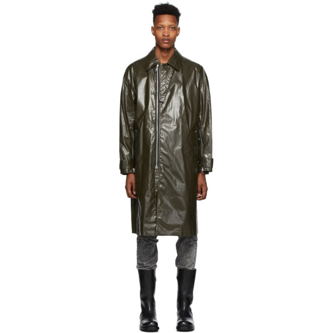 Photo: Johnlawrencesullivan Khaki Coated Cotton Coat