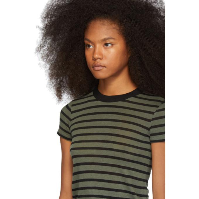 alexanderwang.t Khaki Stripe Slub Boy T-Shirt