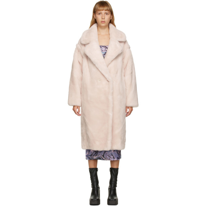 Photo: Yves Salomon - Meteo Pink Wool Double-Breasted Coat