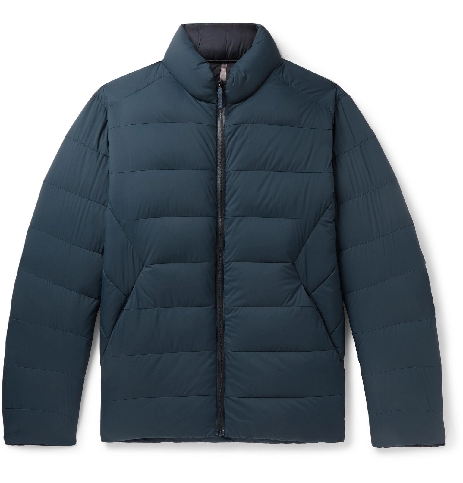 Photo: Arc'teryx Veilance - Conduit AR Quilted Nylon-Ripstop Down Jacket - Blue
