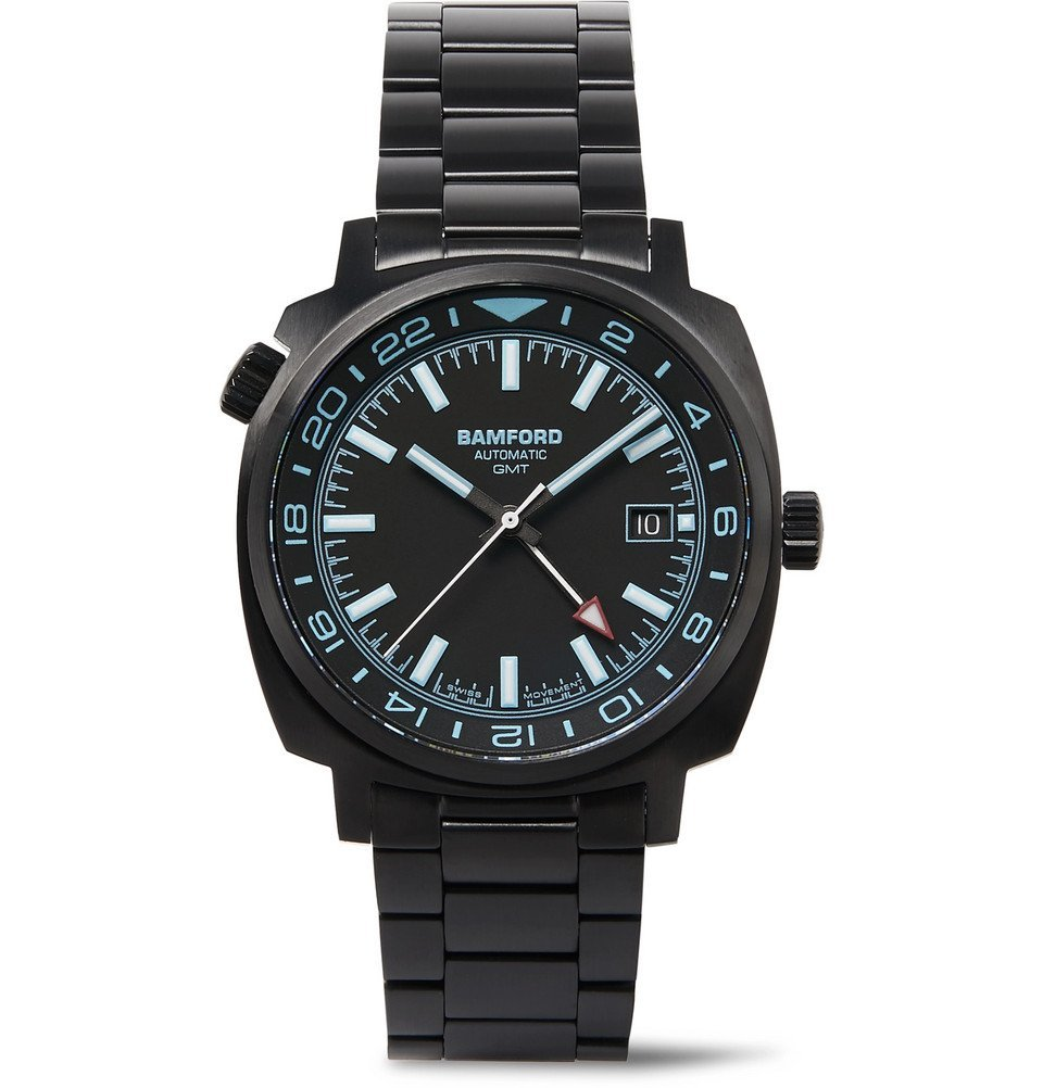 Photo: Bamford Watch Department - GMT Automatic 40mm Brushed Stainless Steel Watch - Black