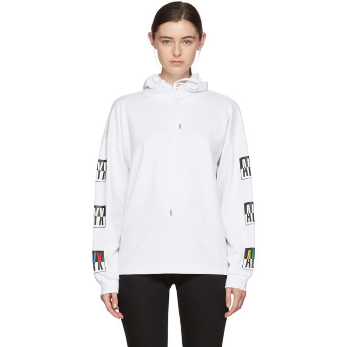 Alyx White Colorblock Logo Hoodie