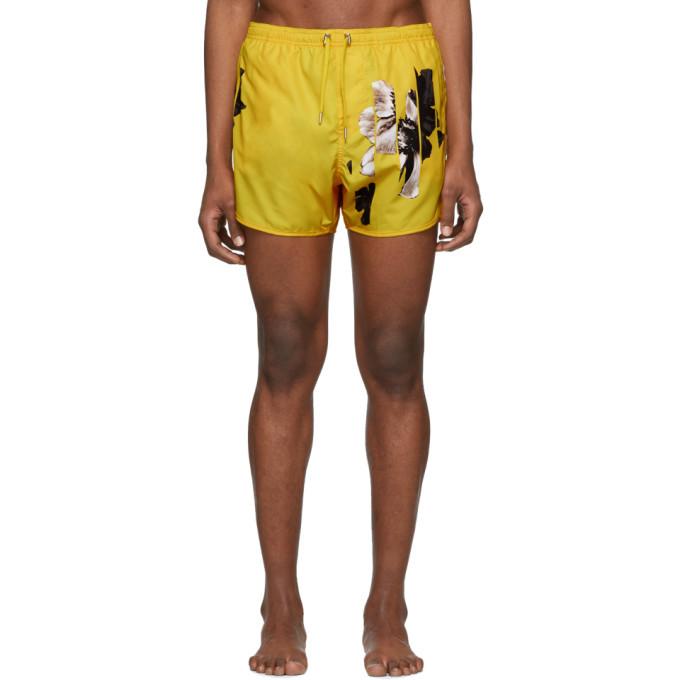 Photo: Neil Barrett Yellow Flowers Swim Shorts