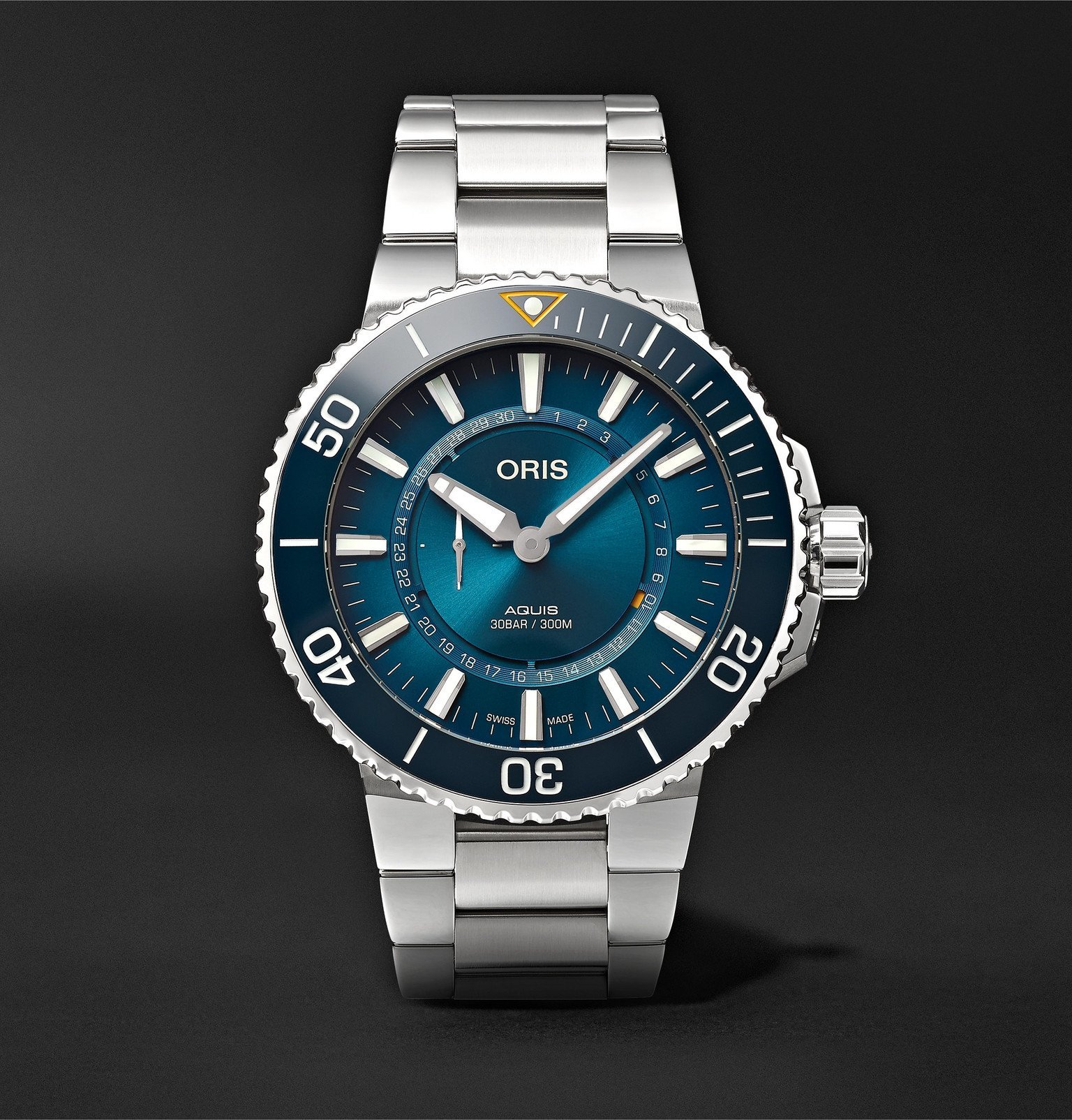 Photo: Oris - Great Barrier Reef III Limited Edition Automatic 43.5mm Stainless Steel Watch - Blue