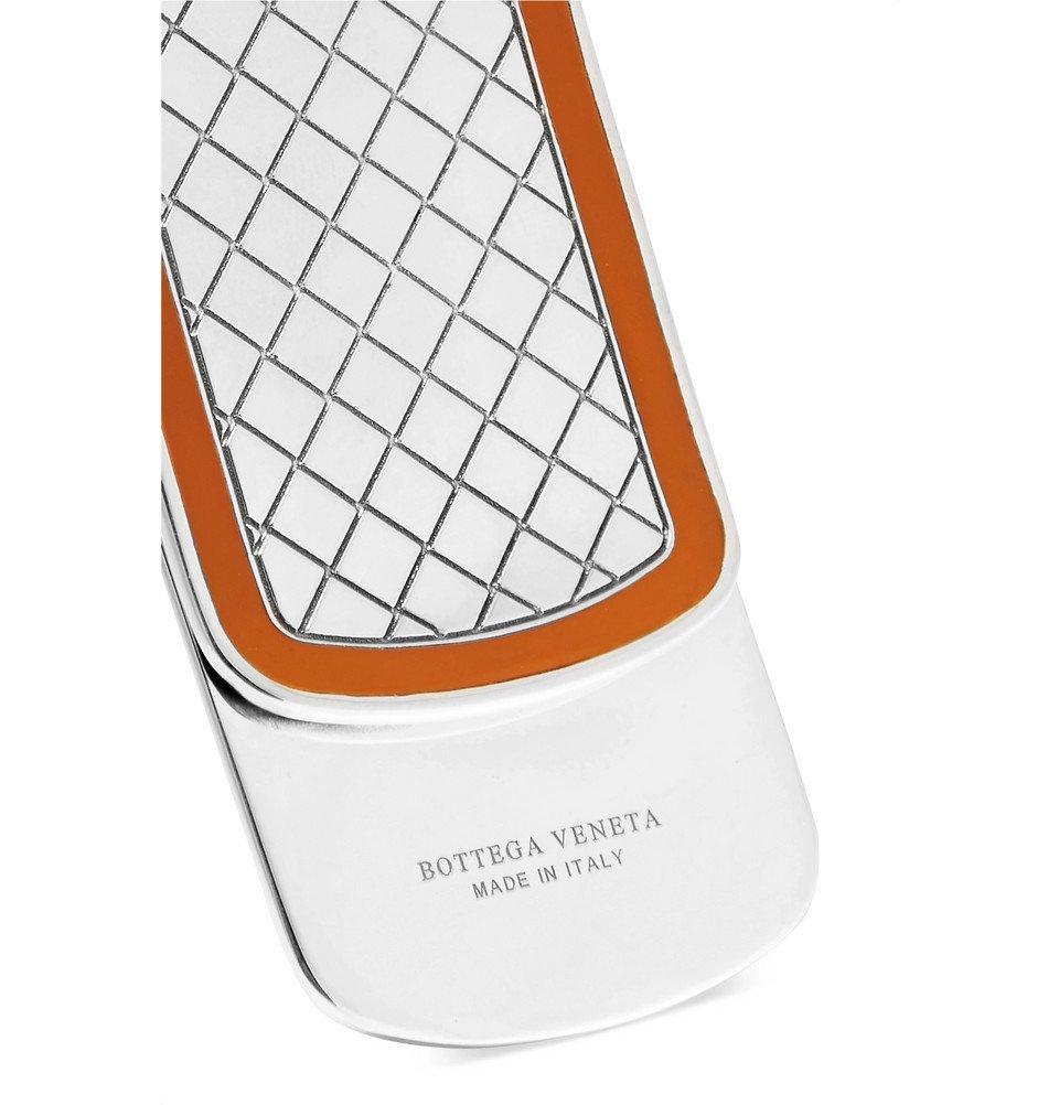 Bottega Veneta - Intrecciato Sterling Silver and Enamel Money Clip - Men - Silver