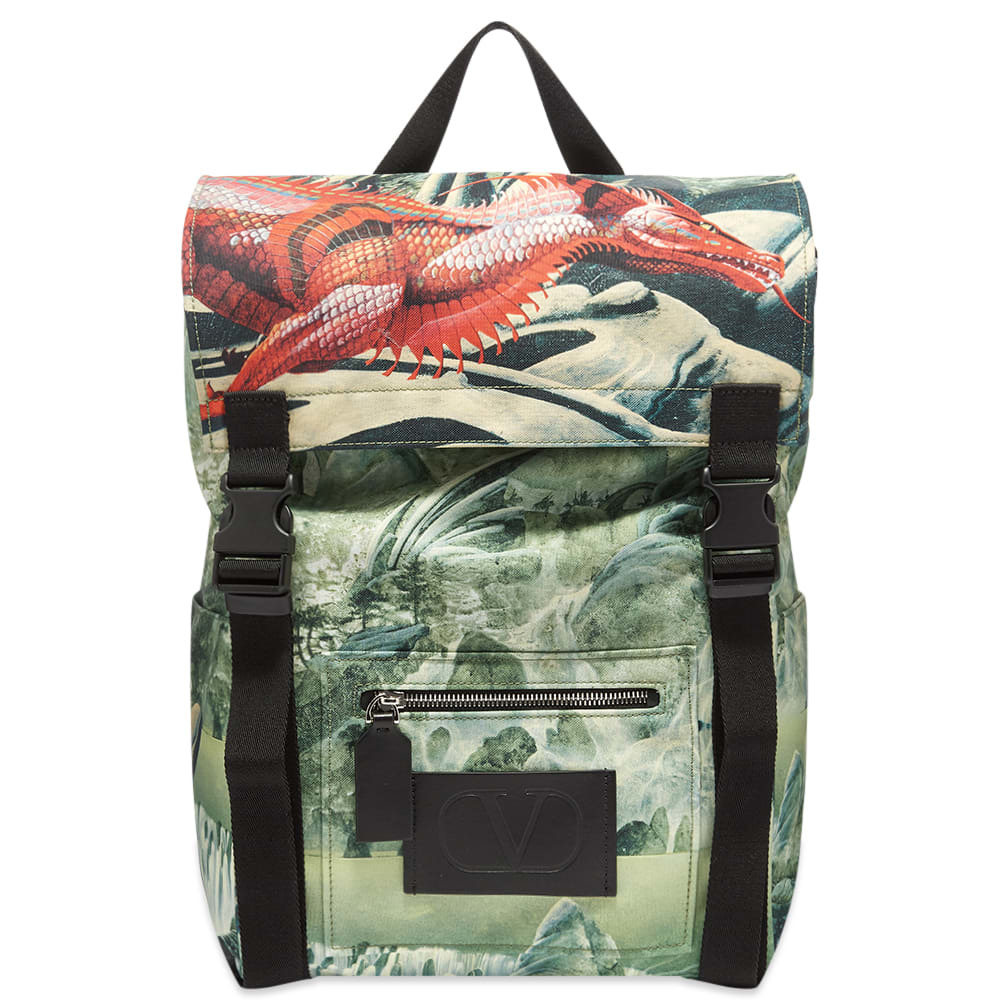 Photo: Valentino x Roger Dean Red Dragon Nylon Backpack