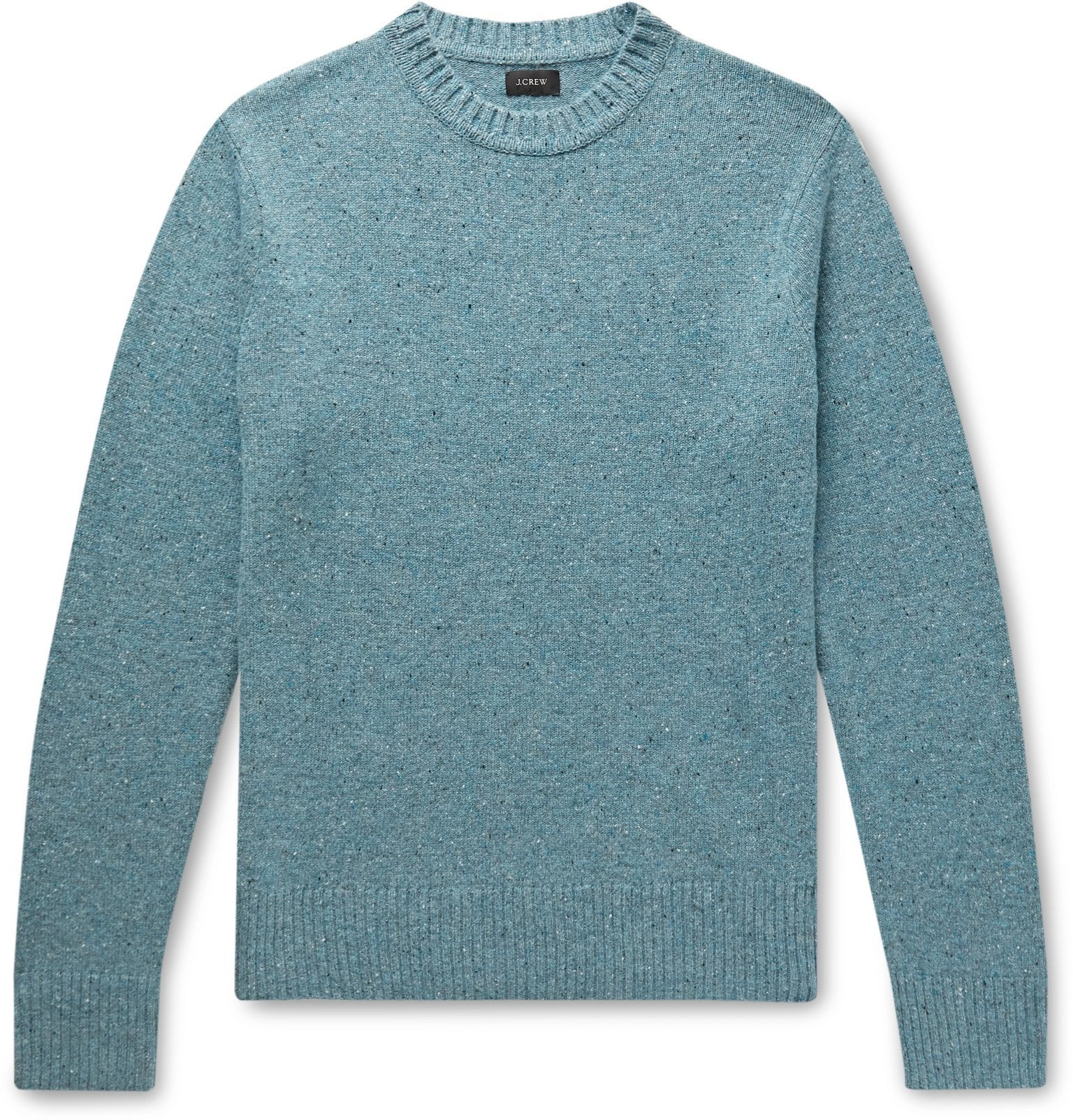 Photo: J.Crew - Mélange Merino Wool-Blend Sweater - Blue