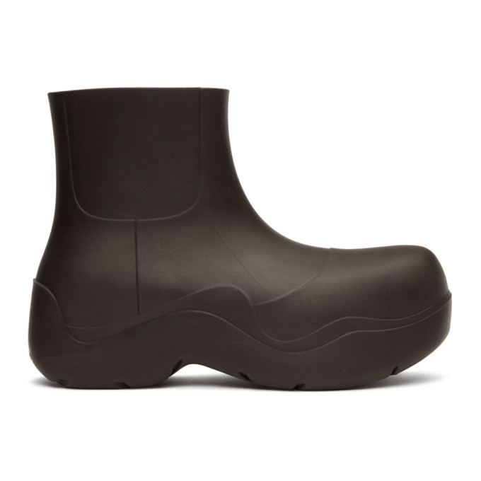 Photo: Bottega Veneta Brown Matte BV Puddle Boots