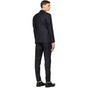 Giorgio Armani Navy Pinstripe Double-Breasted Suit