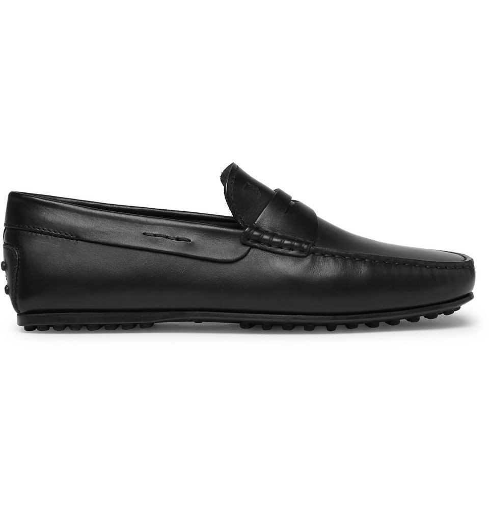 Tod's - City Gommino Leather Penny Loafers - Men - Black