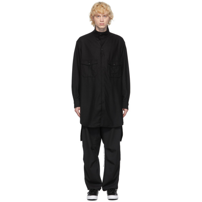 Photo: Y-3 Black Wool Flannel Classic Shirt