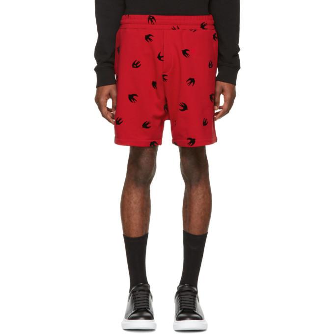 Photo: McQ Alexander McQueen Red Mini Swallow Shorts
