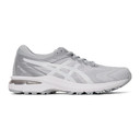 Asics White and Grey GT-2000 8 Sneakers