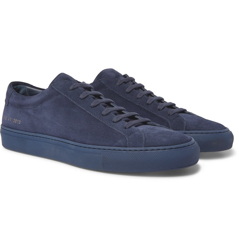 Common Projects - Original Achilles Suede Sneakers - Navy