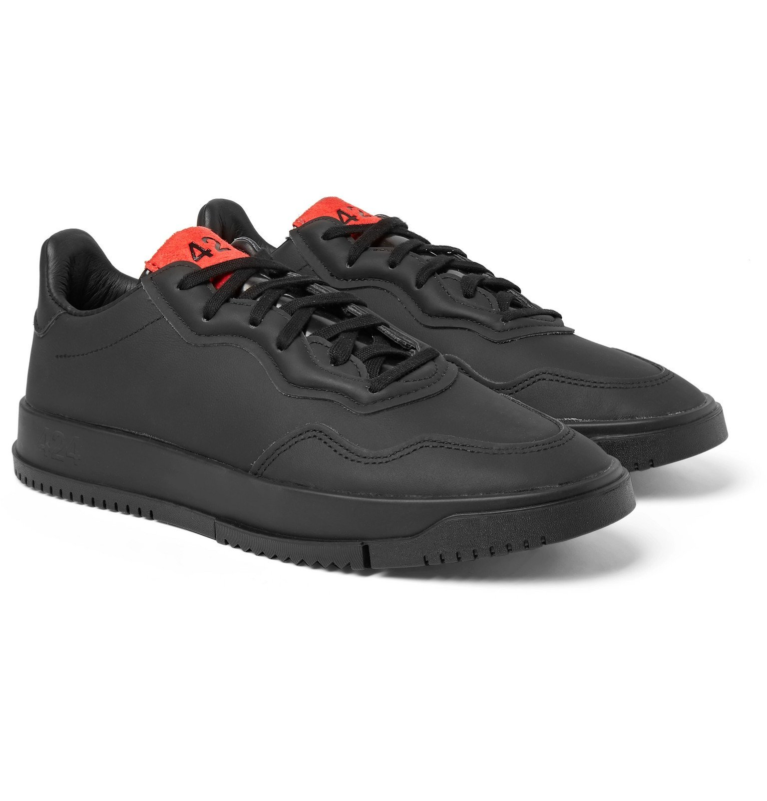 Photo: adidas Consortium - 424 SC Premiere Leather Sneakers - Black