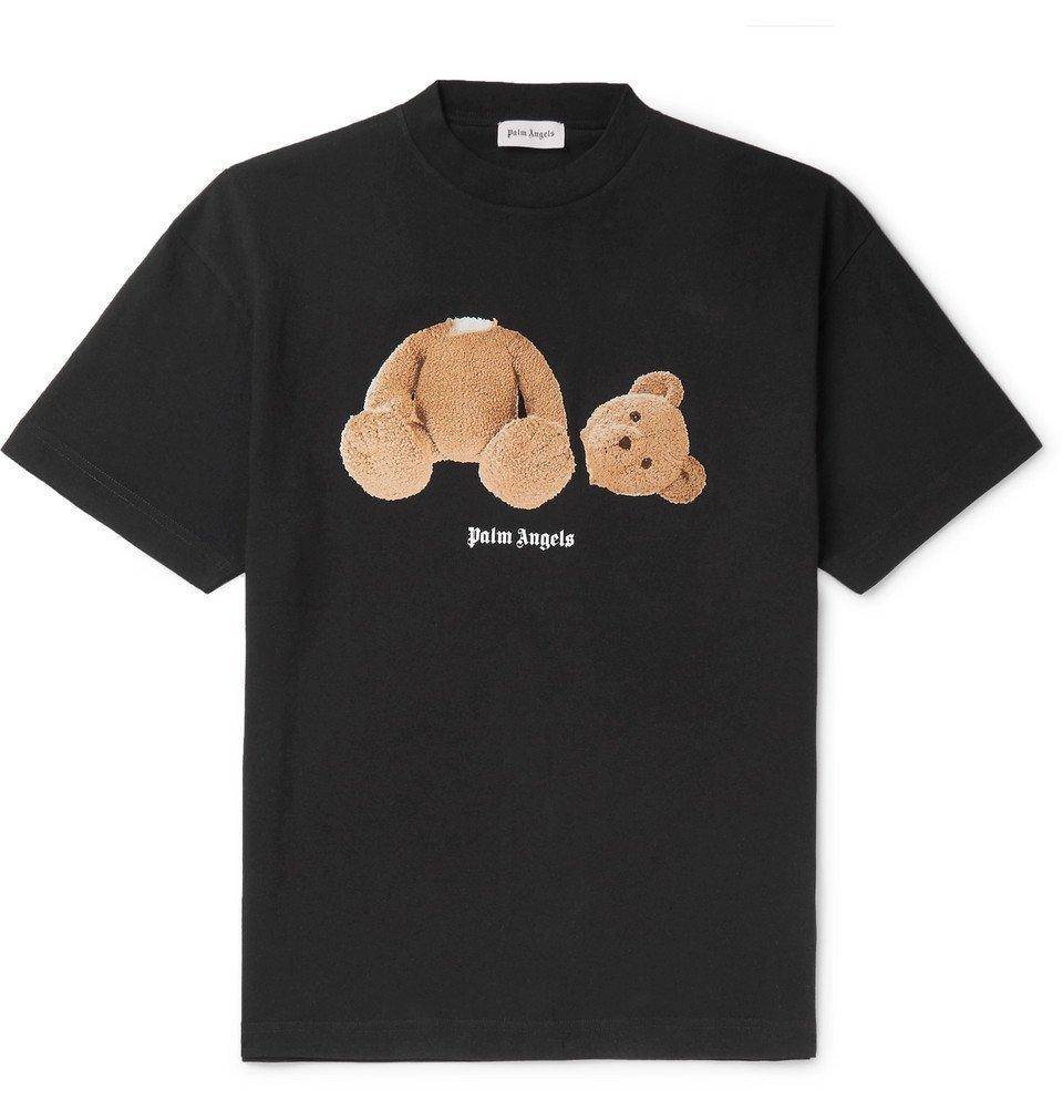 Photo: Palm Angels - Slim-Fit Printed Cotton-Jersey T-Shirt - Black