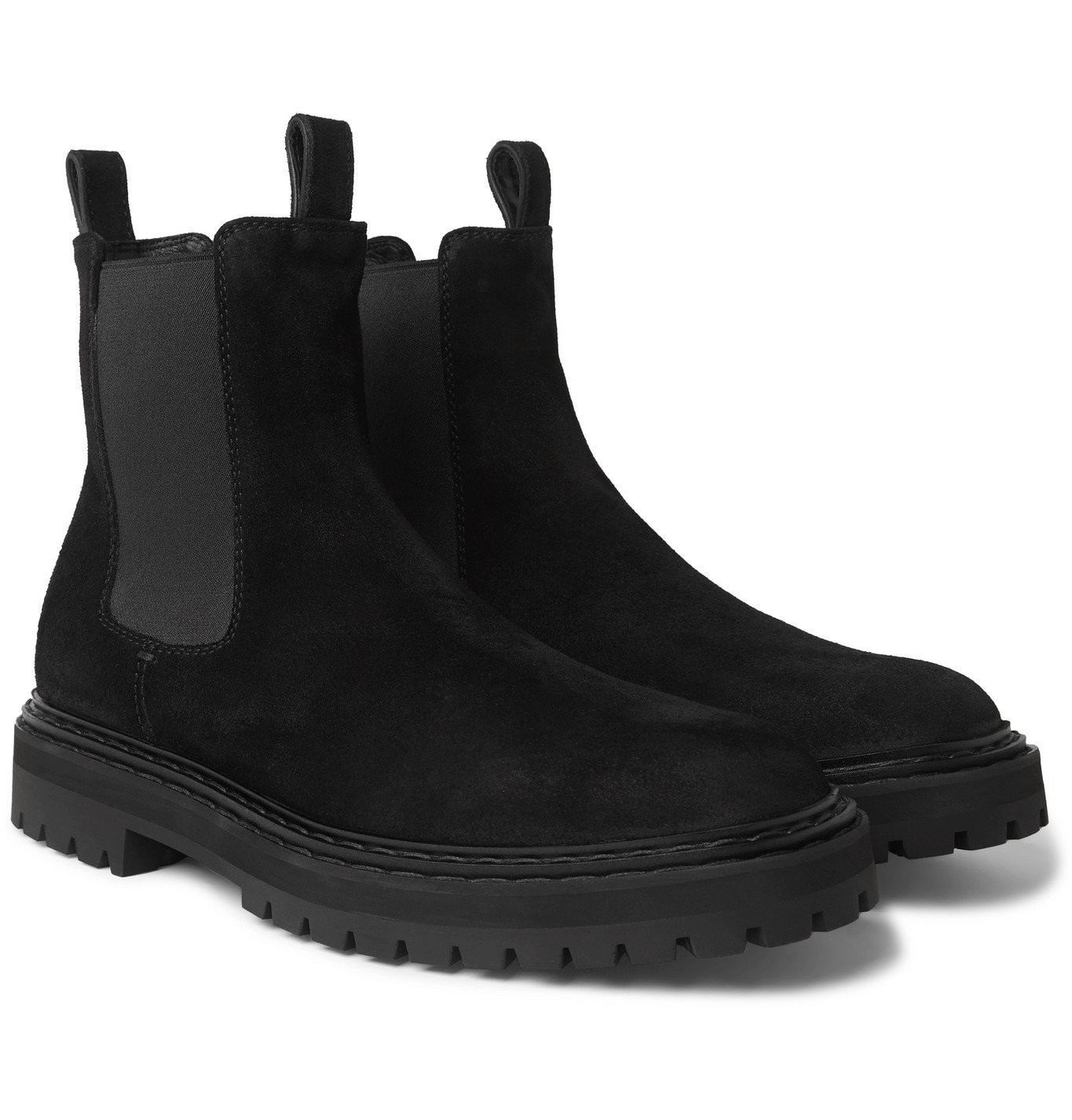 Photo: Officine Creative - Pistols Suede Chelsea Boots - Black