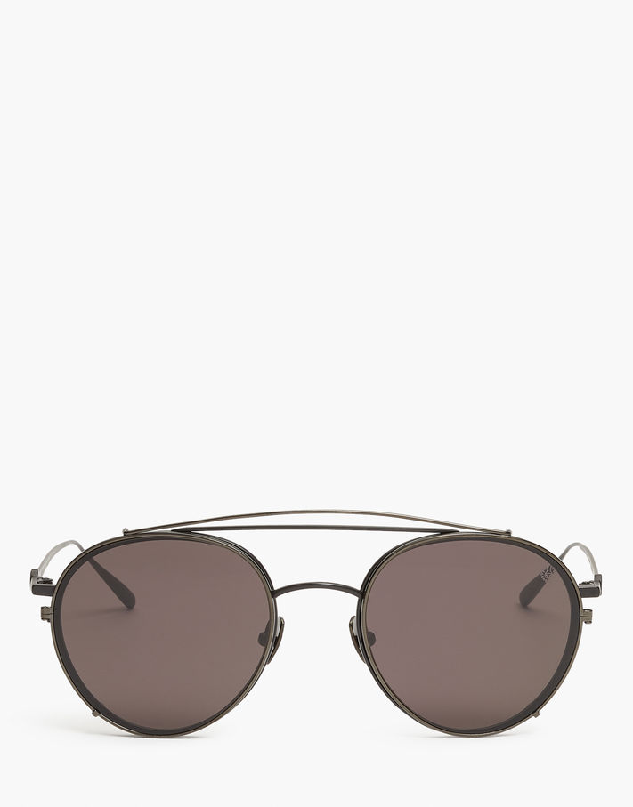 Photo: Belstaff Jagged Round Sunglasses Black