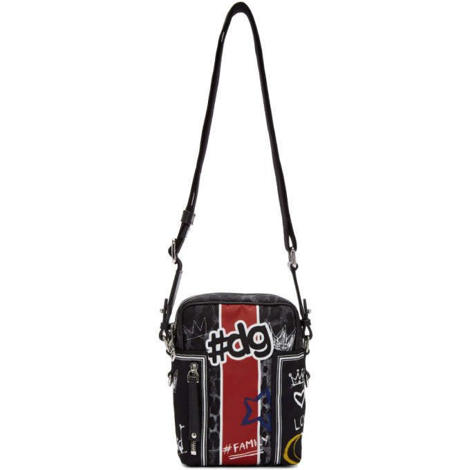 Photo: Dolce and Gabbana Black Graffiti Camera Bag