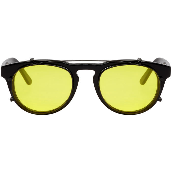 Photo: Han Kjobenhavn Black and Yellow Timeless Clip-On Sunglasses