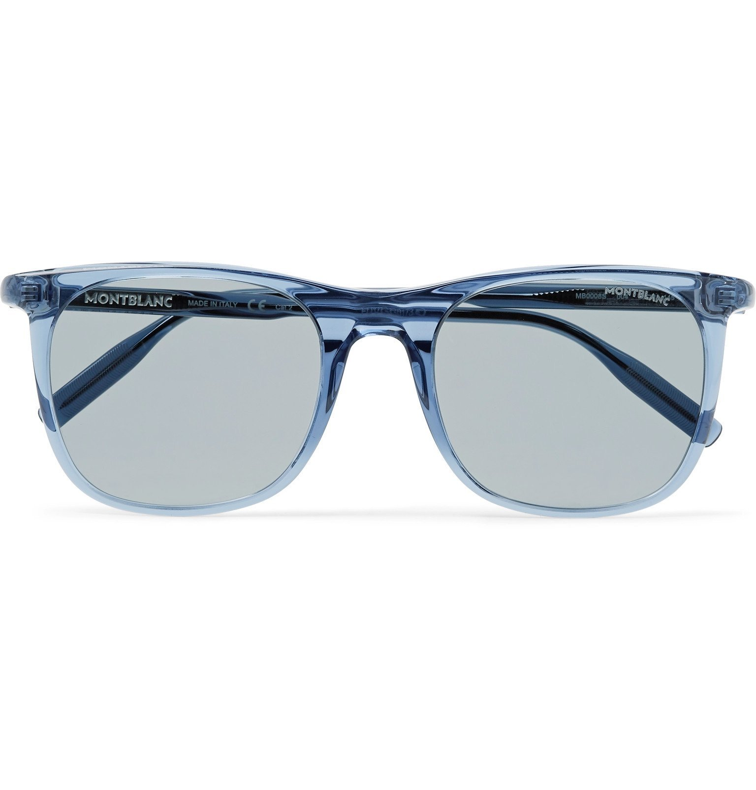 Photo: Montblanc - Square-Frame Acetate Sunglasses - Blue