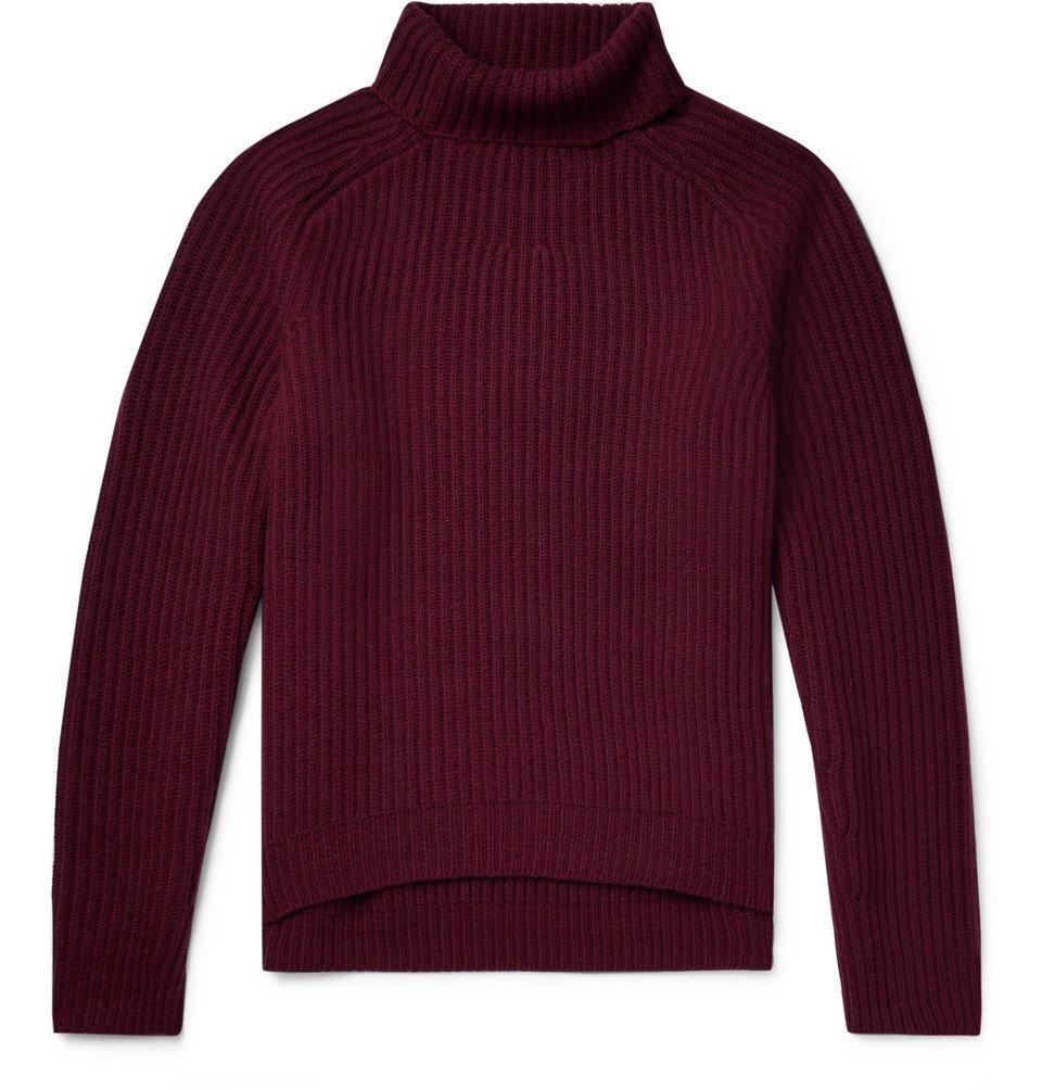 Acne Studios - Kally Ribbed Wool Rollneck Sweater - Burgundy