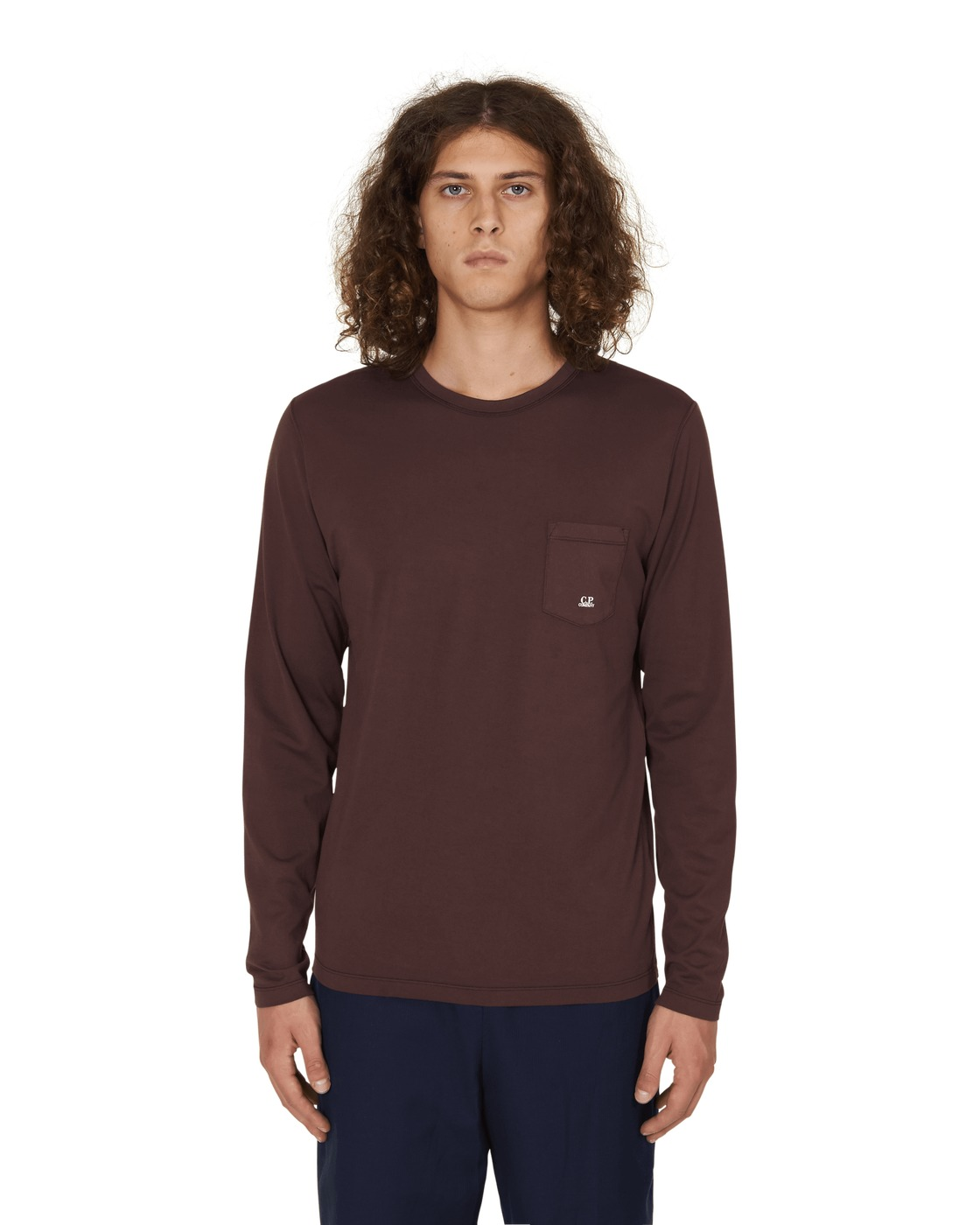 C.P. Company Long Sleeves T Shirt Bitter Chocolate