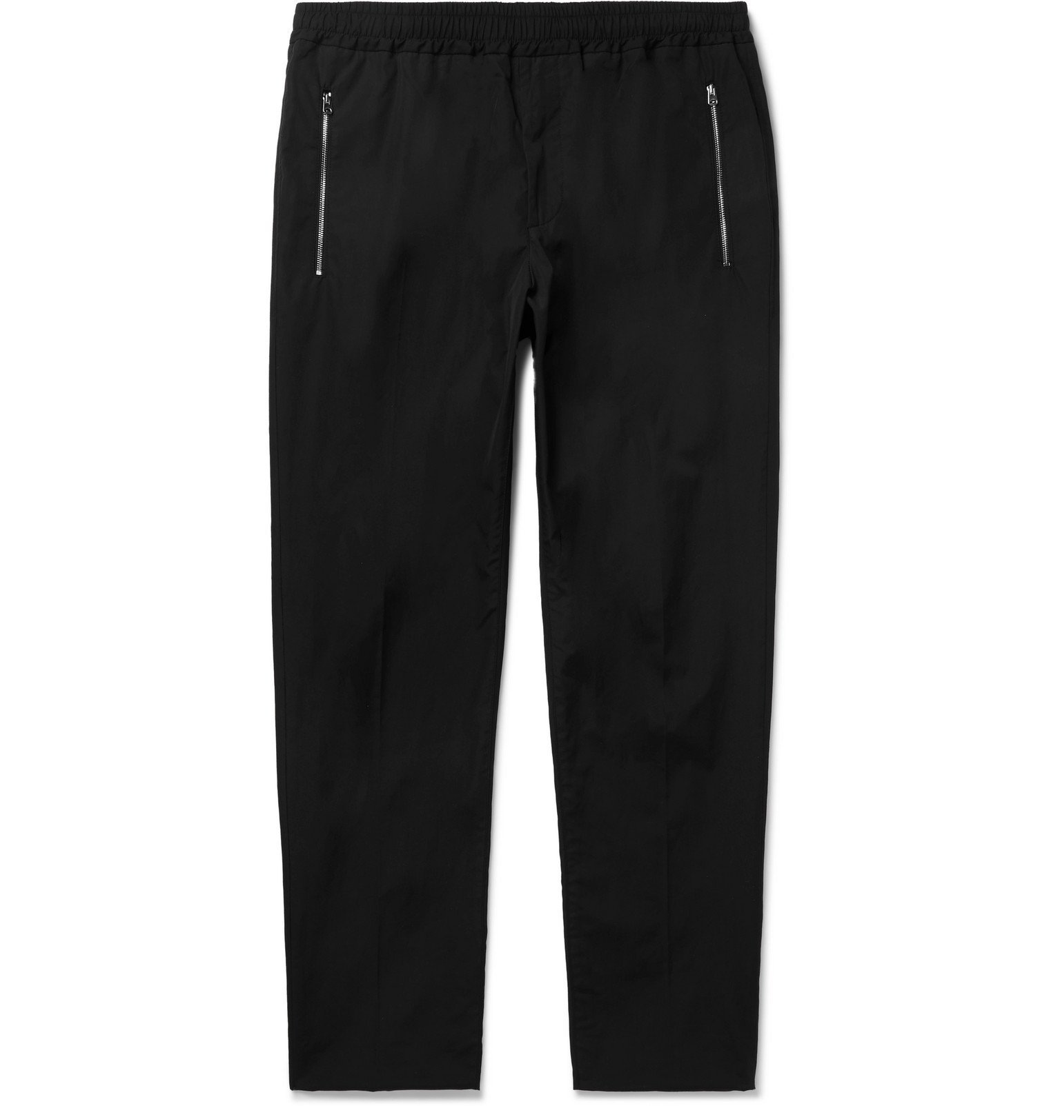 Stella McCartney - Slim-Fit Tapered Cotton Drawstring Trousers - Black