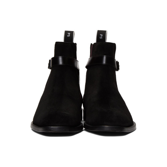 PS by Paul Smith Black Suede Harrow Chelsea Boots