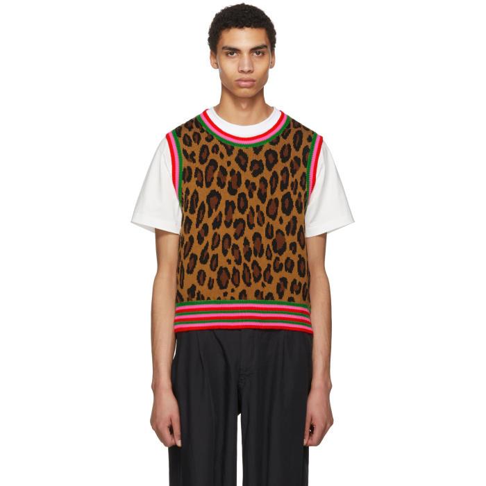 Photo: Comme des Garçons Homme Plus Tan Leopard Knit Vest