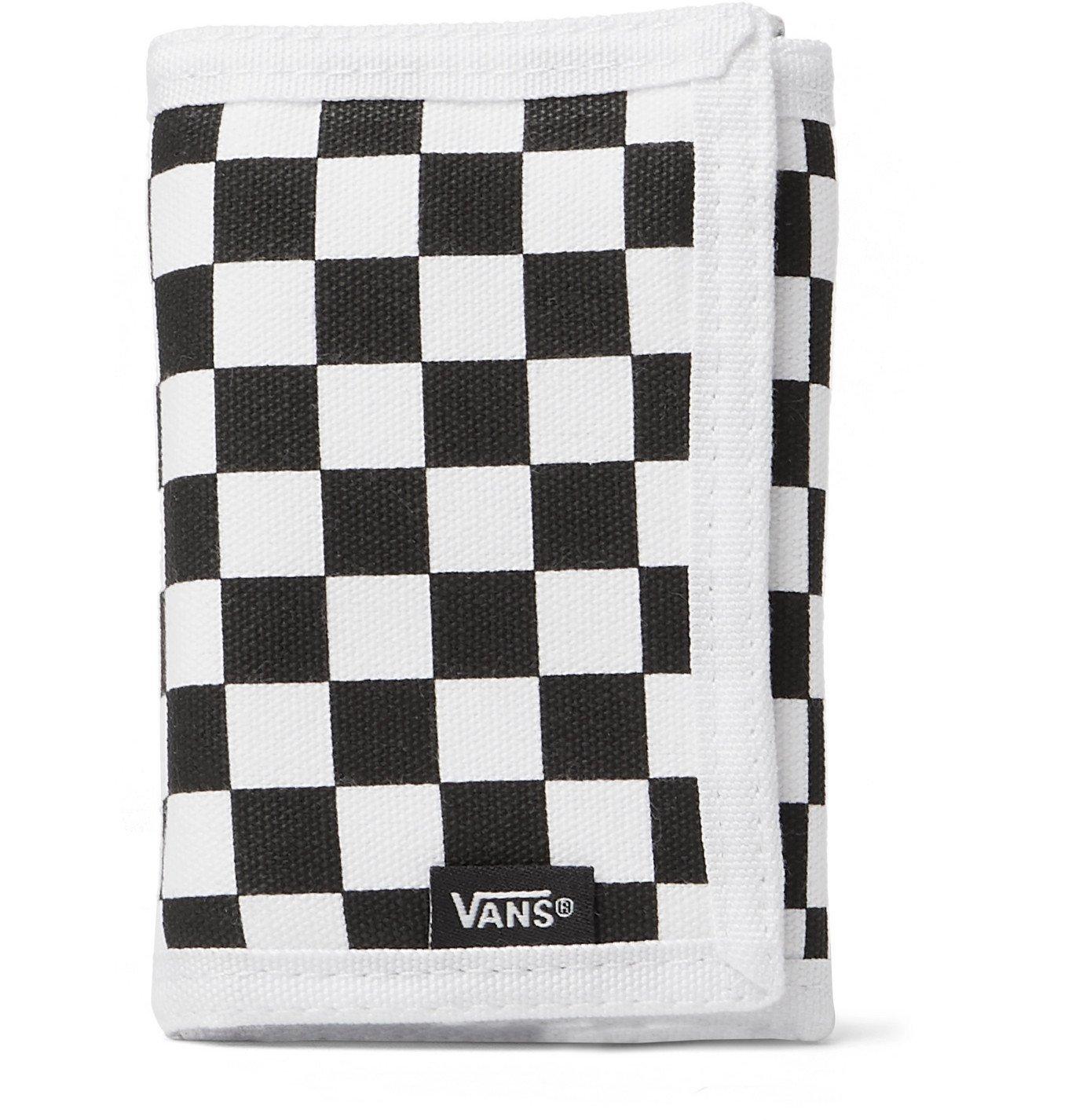 Photo: Vans - Checkerboard Cotton-Canvas Trifold Wallet - White