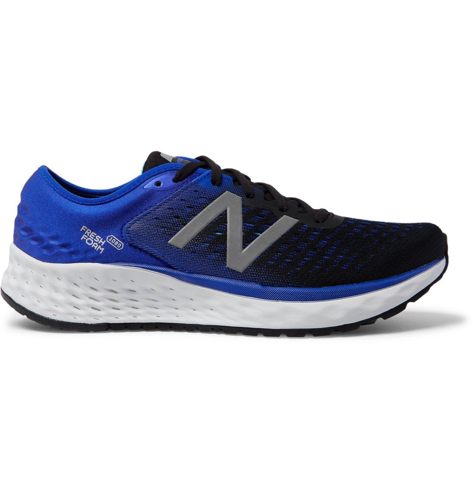 Photo: New Balance - 1080v9 Mesh and Neoprene Running Sneakers - Black