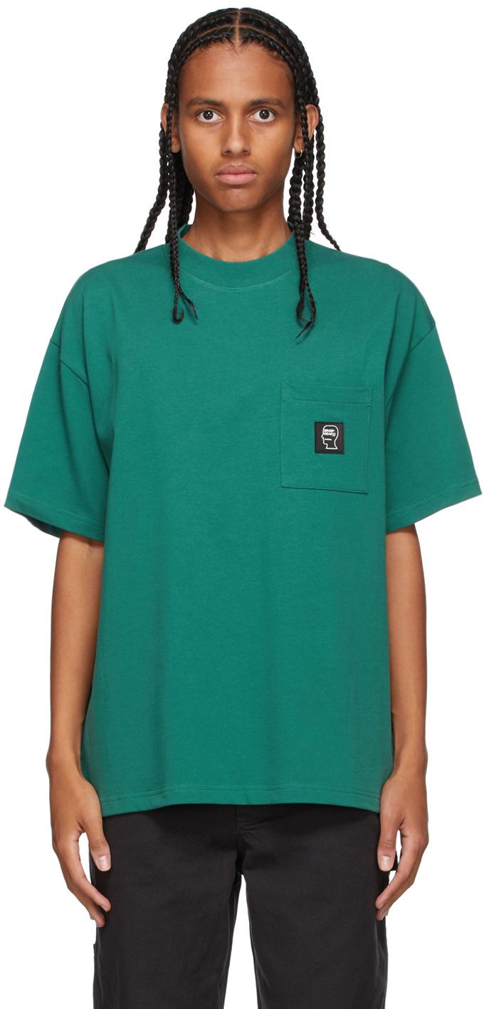 Photo: Brain Dead Green Heavyweight Pocket T-Shirt