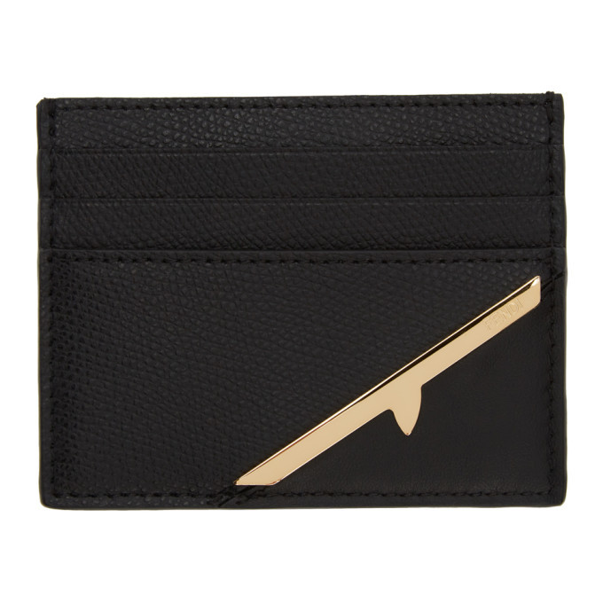 Photo: Fendi Black Corner Bugs Card Holder