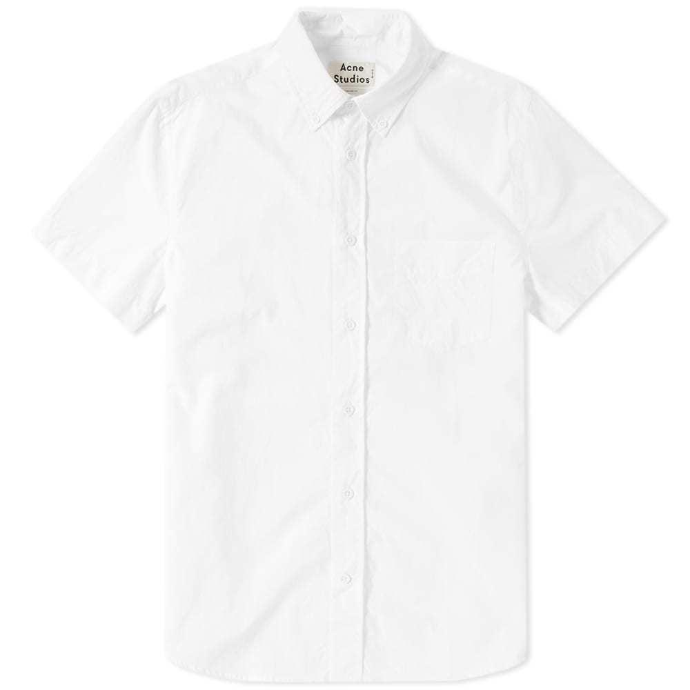 Acne Studios Short Sleeve Isherwood Shirt White