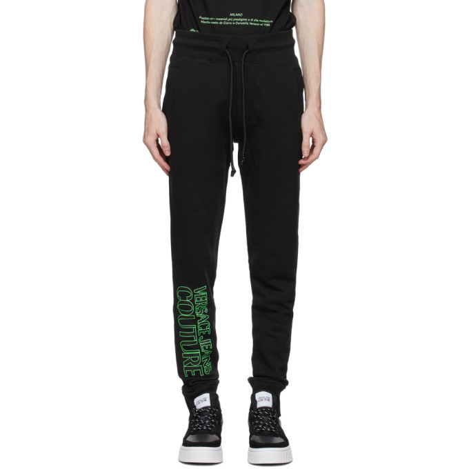 Photo: Versace Jeans Couture Black and Green Logo Lounge Pants