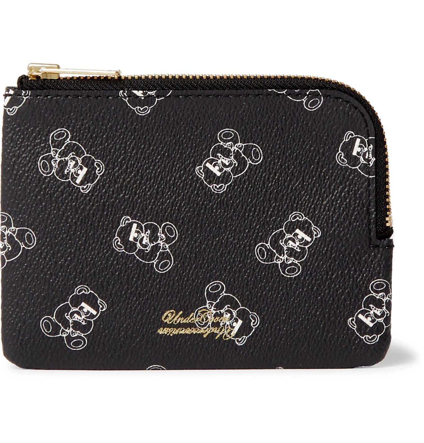 Photo: Undercover - UBEAR Printed Faux Leather Wallet - Black