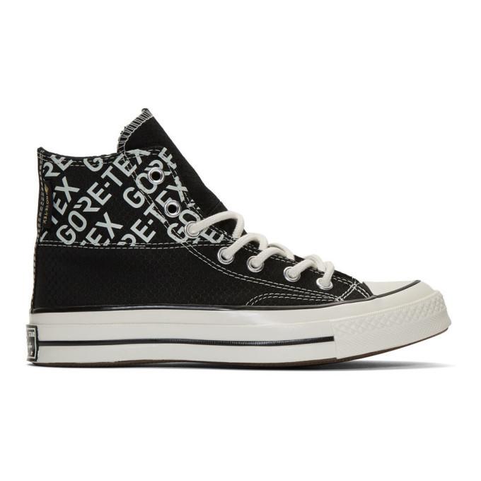 Photo: Converse Black Gore-Tex Chuck 70 Hi Sneakers