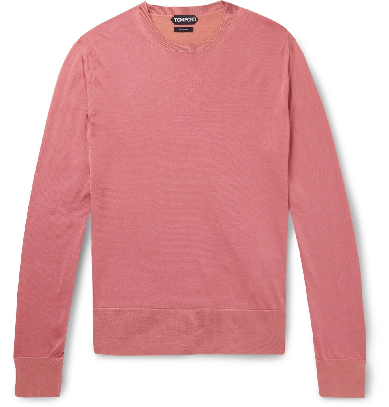 Photo: TOM FORD - Slim-Fit Silk Sweater - Pink