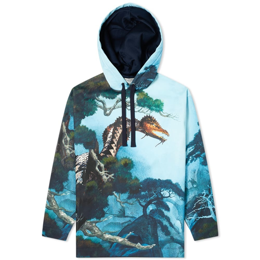 Photo: Valentino x Roger Dean Dragon Garden Hoody