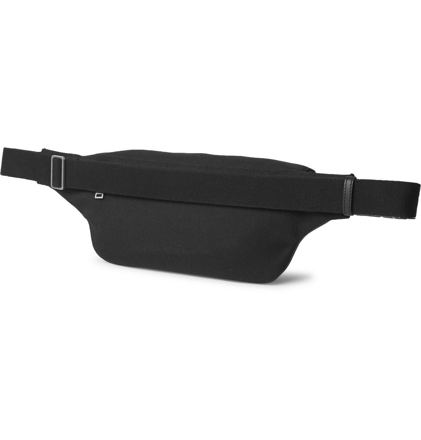 SAINT LAURENT - Leather-Trimmed Canvas Belt Bag - Black
