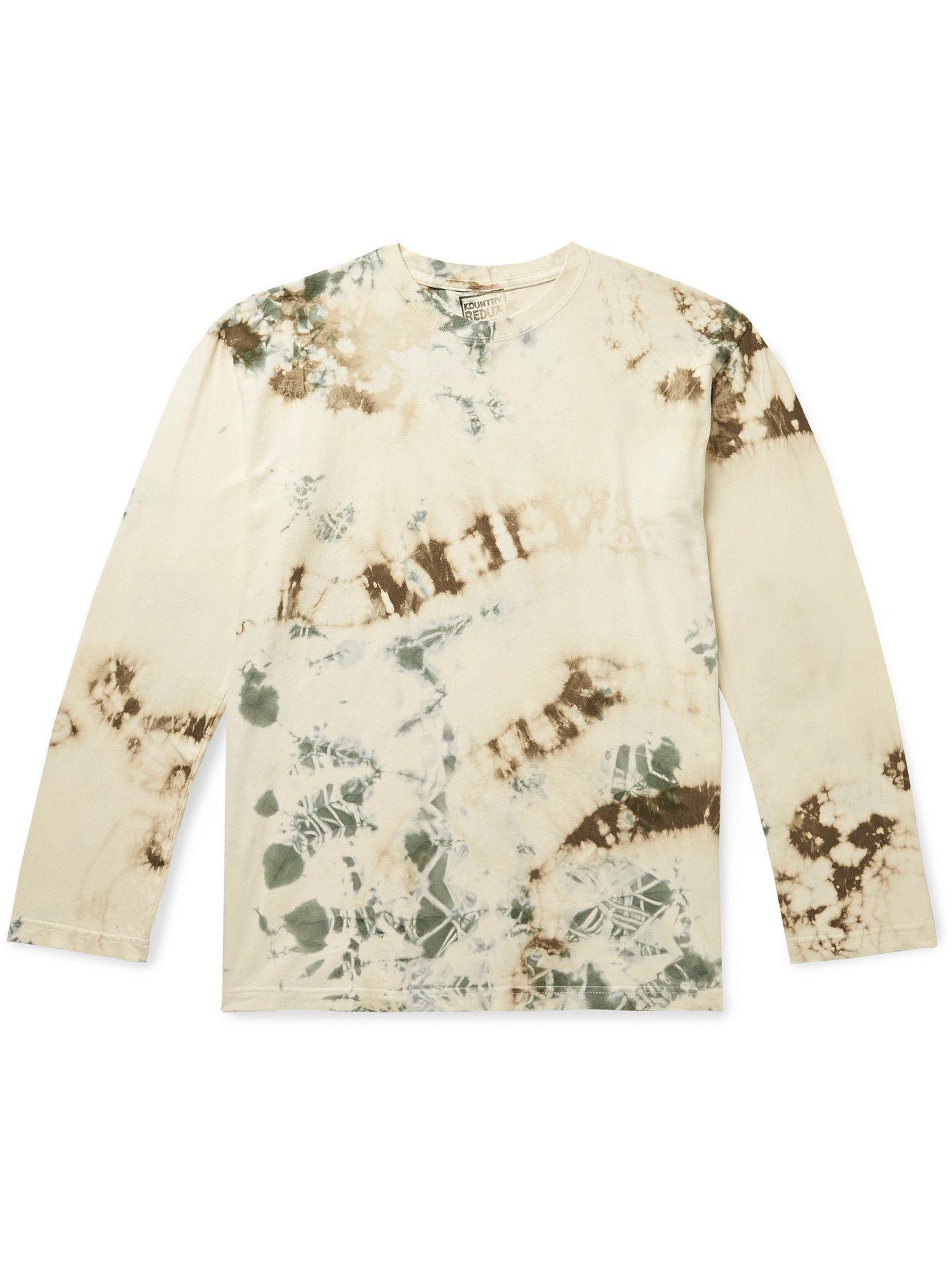 Photo: KAPITAL - Printed Tie-Dyed Cotton-Jersey T-Shirt - Multi