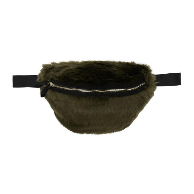 Photo: Landlord Green Faux-Fur Belt Pouch