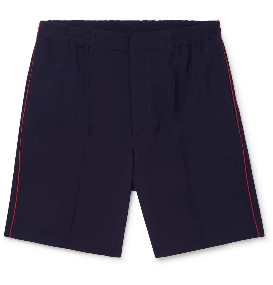 Photo: Alexander McQueen - Piped Crepe Shorts - Navy
