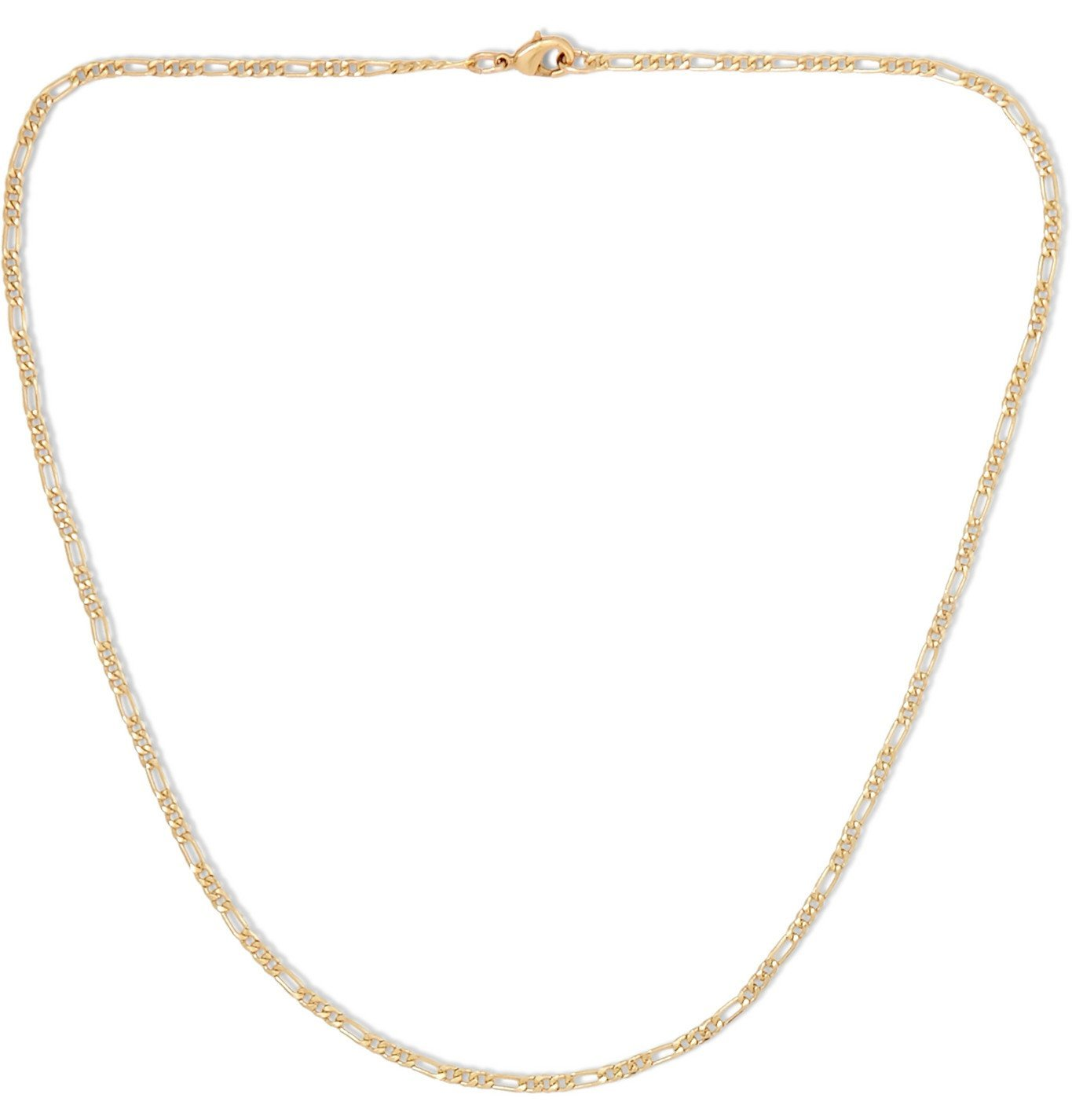 Photo: MAPLE - Figaro 14-Karat Gold-Filled Chain Necklace - Gold