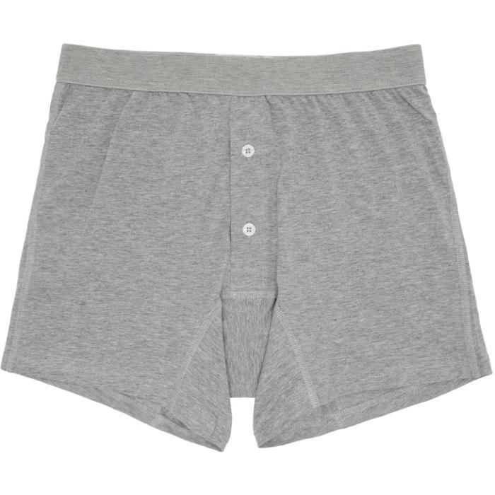 Photo: Comme des Garçons Shirt Grey Plain Button Down Boxers