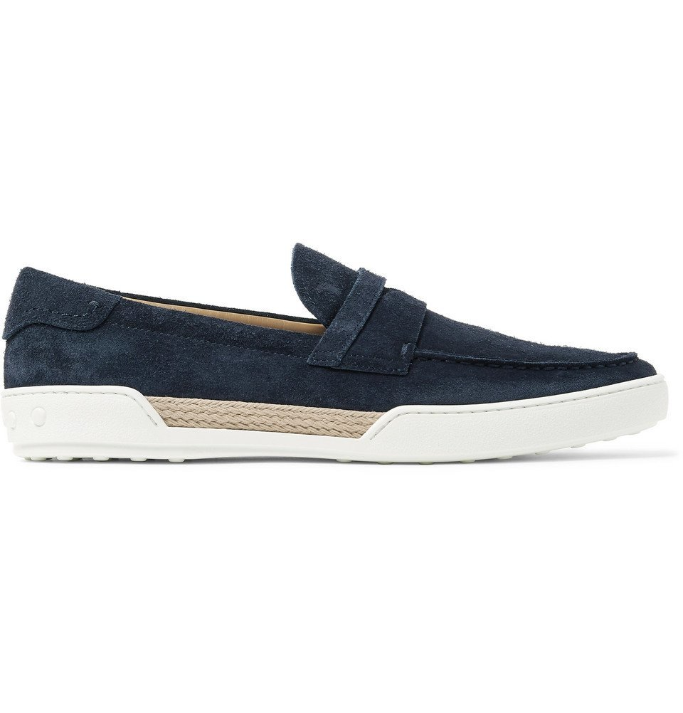 Tod's - Riviera Suede Penny Loafers - Men - Midnight blue