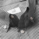 Dunhill - Button-Down Collar Gingham Cotton Shirt - Men - Black