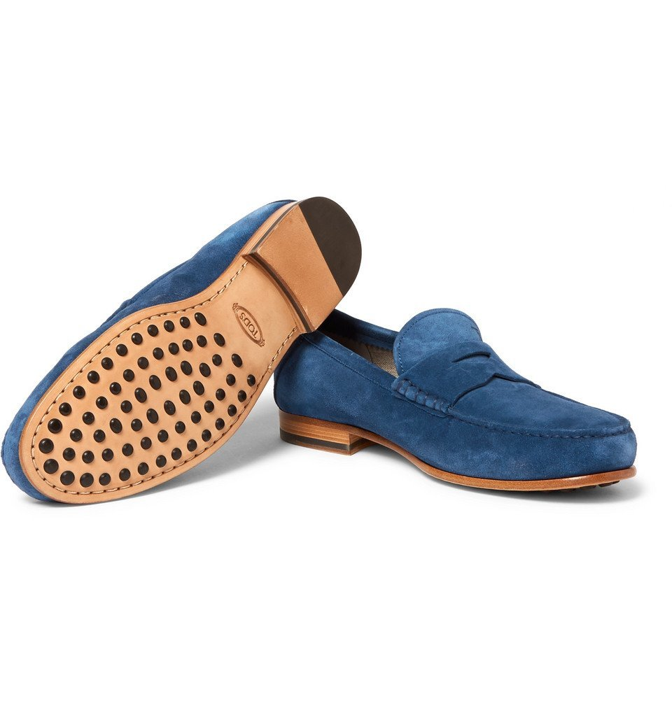 Tod's - Suede Penny Loafers - Men - Blue